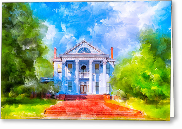 Southern Charm - Greek Revival Home Greeting Card