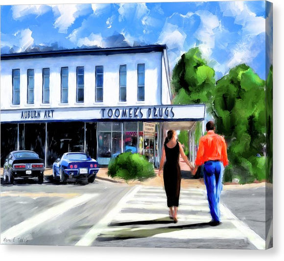 Spirit Of Auburn - Toomer's Corner - Canvas Print