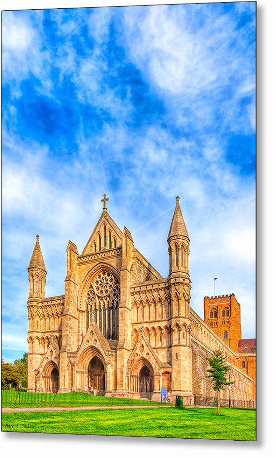 St Albans Abbey - Historic Cathedral Metal Print