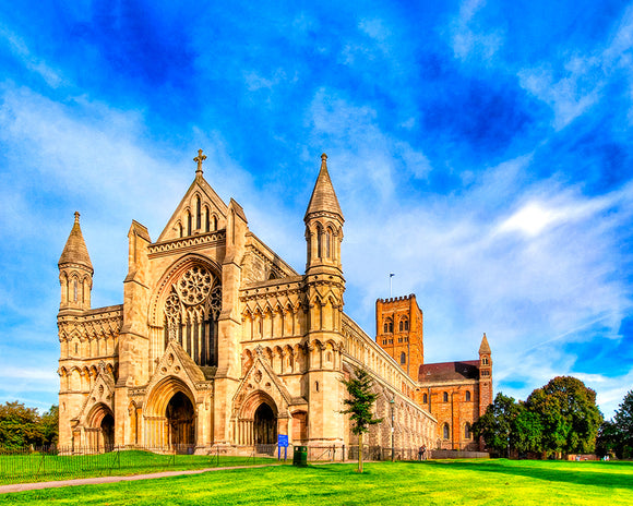 St Albans Cathedral - UK Art Print
