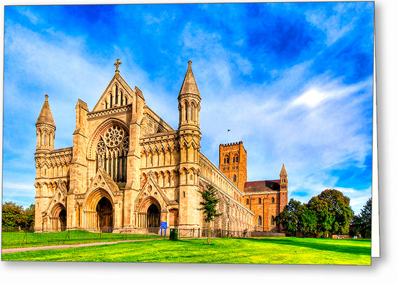 St Albans Cathedral - UK Greeting Card
