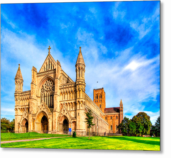 St Albans Cathedral - UK Metal Print