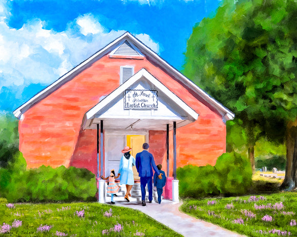 St. Paul Primitive Baptist Church - Montezuma Georgia Art Print