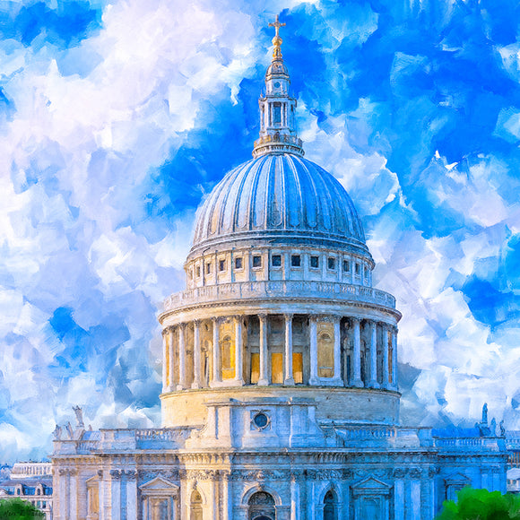 St. Paul's Cathedral Dome - London Art Print