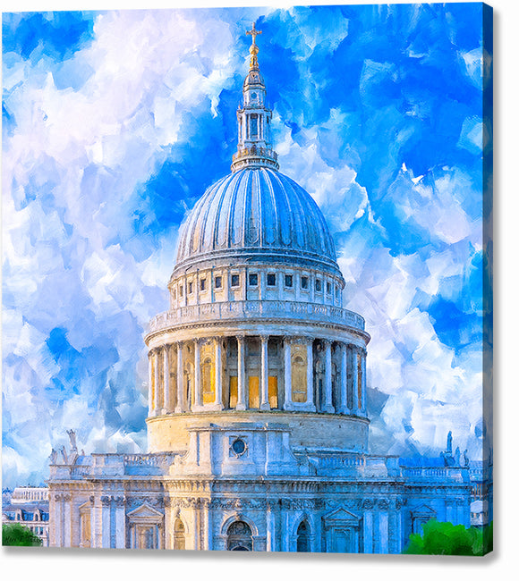 St. Paul's Cathedral Dome - London Canvas Print