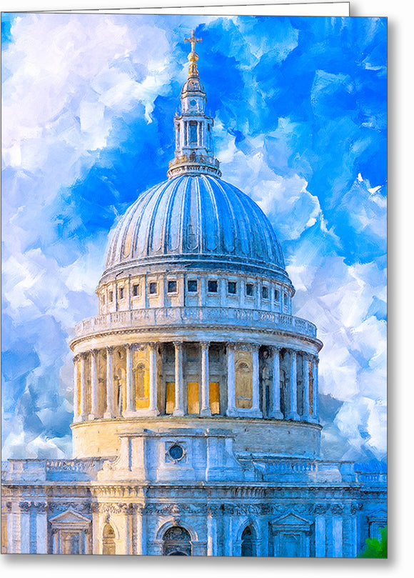 St. Paul's Cathedral Dome - London Greeting Card