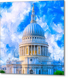 St. Paul's Cathedral Dome - London Metal Print