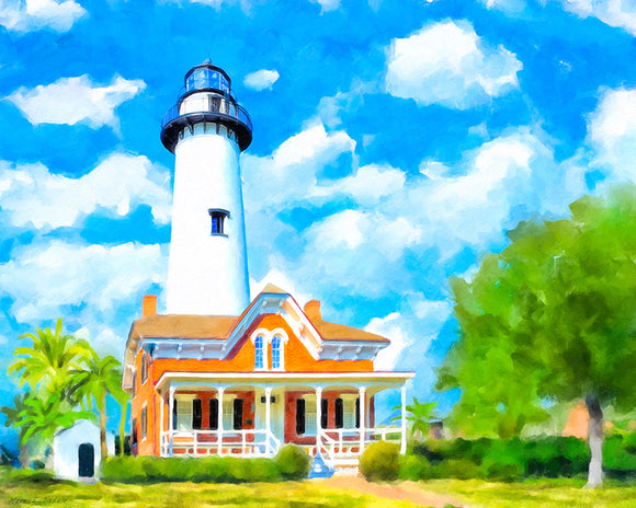 St Simons Island Lighthouse Art Print