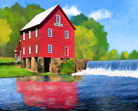 Starr's Mill - Georgia Art Print