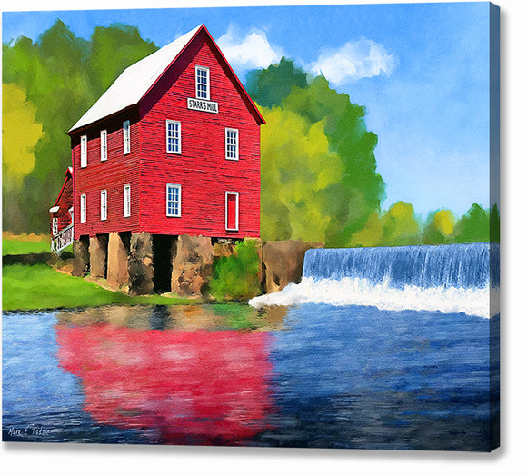 Starr's Mill - Georgia Canvas Print
