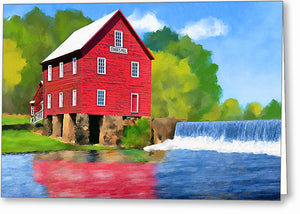 Starr's Mill - Georgia Greeting Card