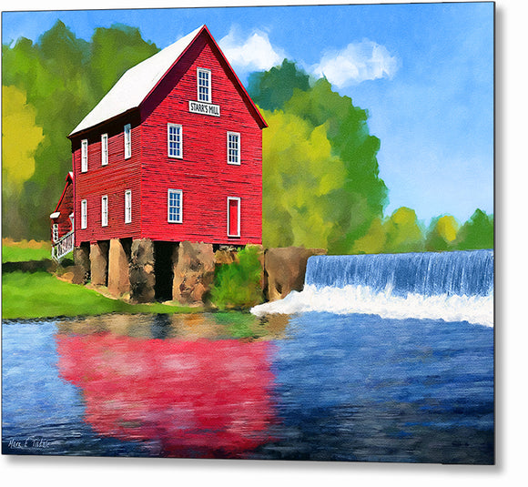 Starr's Mill - Georgia Metal Print