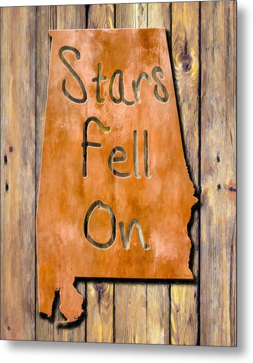 Stars Fell On Alabama - Metal Print