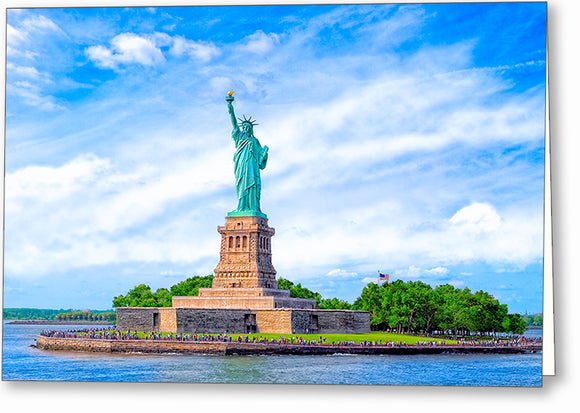 Statue of Liberty - Historic Landmark Greeting Card