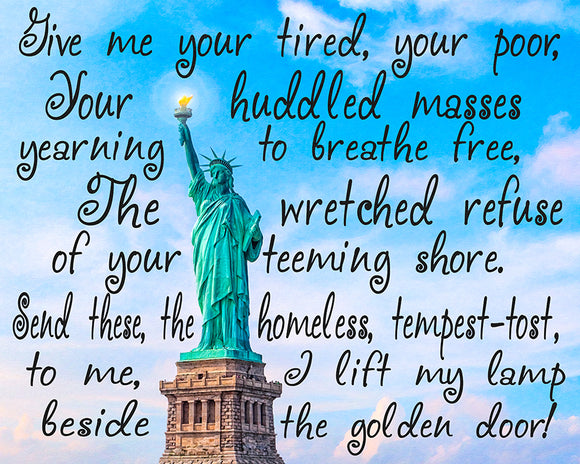 Statue Of Liberty Poem Art Print