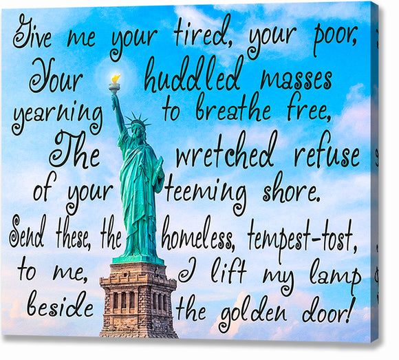 Statue Of Liberty Poem Canvas Print