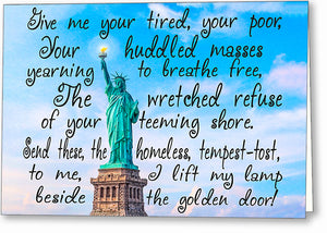 Statue Of Liberty Poem Greeting Card