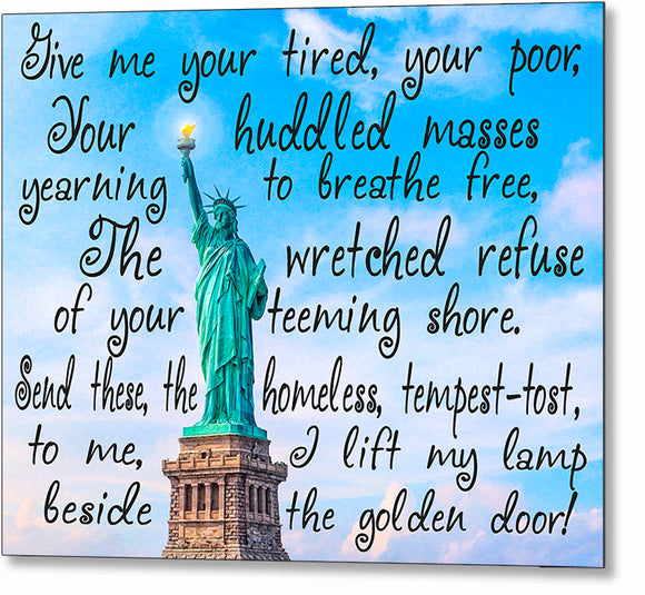 Statue Of Liberty Poem Metal Print