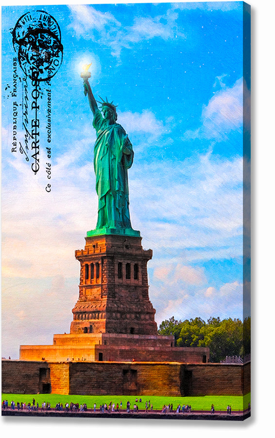 Statue Of Liberty - Vintage Style Canvas Print