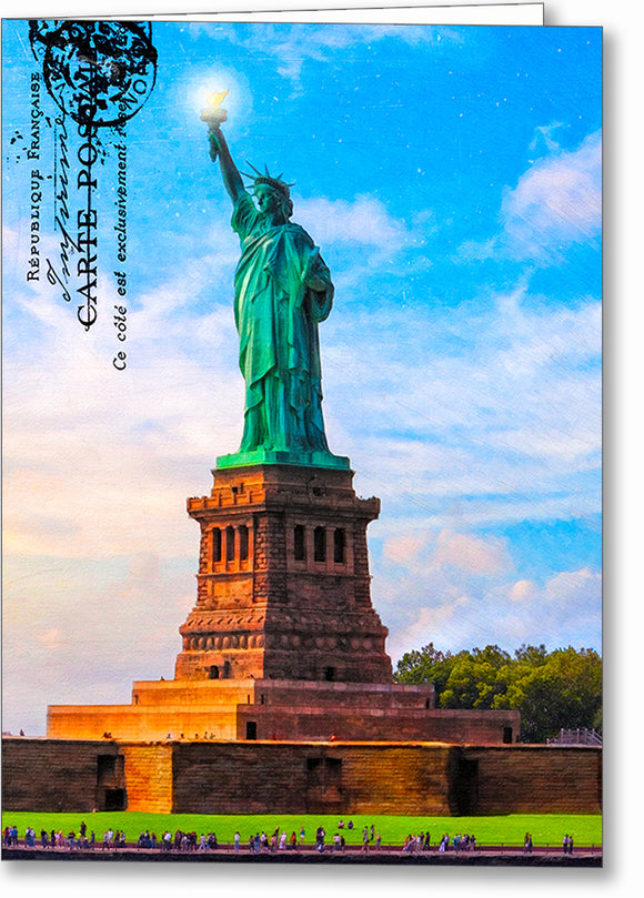 Statue Of Liberty - Vintage Style Greeting Card