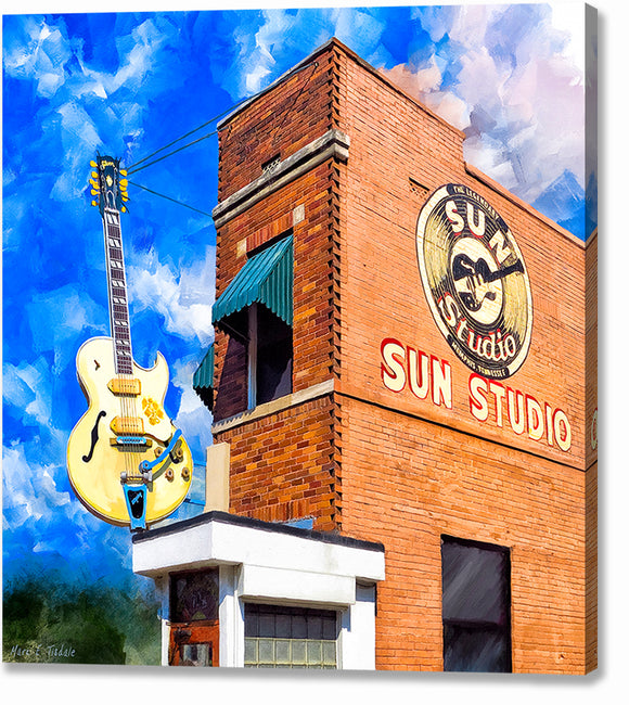 Sun Studio - Birthplace of Rock Music Canvas Print