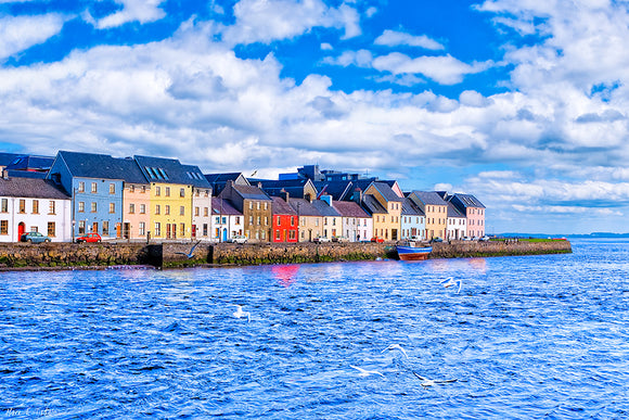 Sunny Day in Galway - Long Walk Art Print