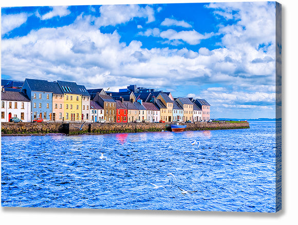 Sunny Day in Galway - Long Walk Canvas Print