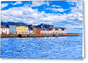 Sunny Day in Galway - Long Walk Greeting Card