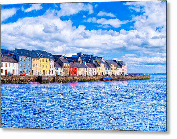 Sunny Day in Galway - Long Walk Metal Print