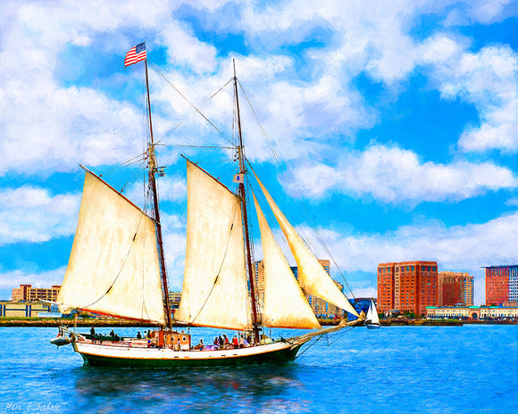 Tall Ship Cruise - Boston Harbor Art Print