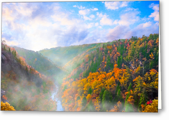 Tallulah Gorge Landscape - Fall Greeting Card