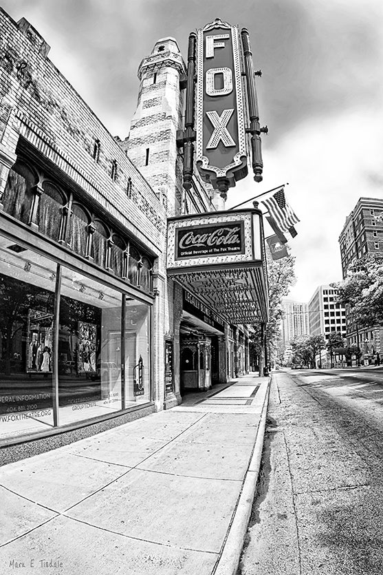 The Fox Theatre - Atlanta Black And White Art Print