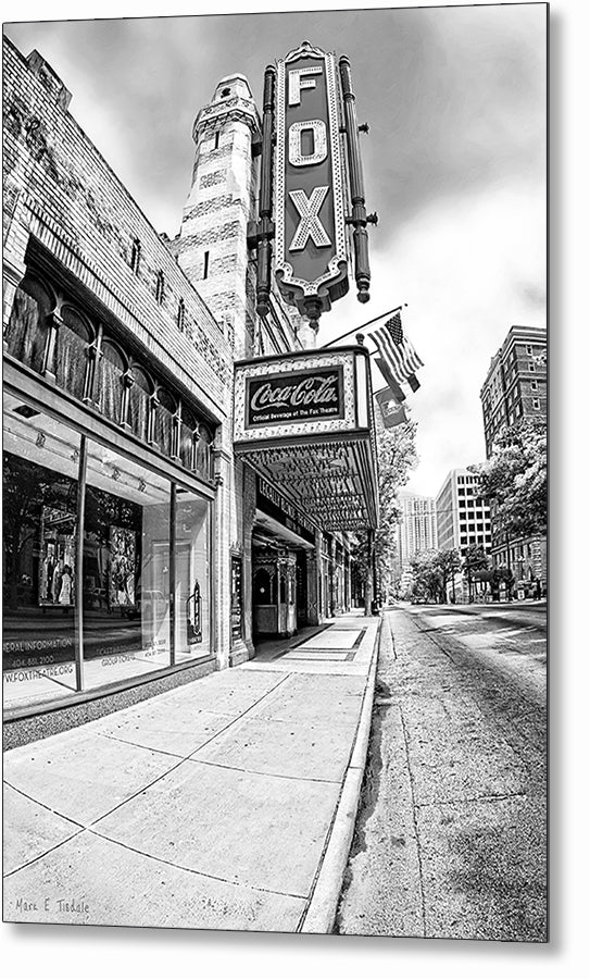 The Fox Theatre - Atlanta Black And White Metal Print