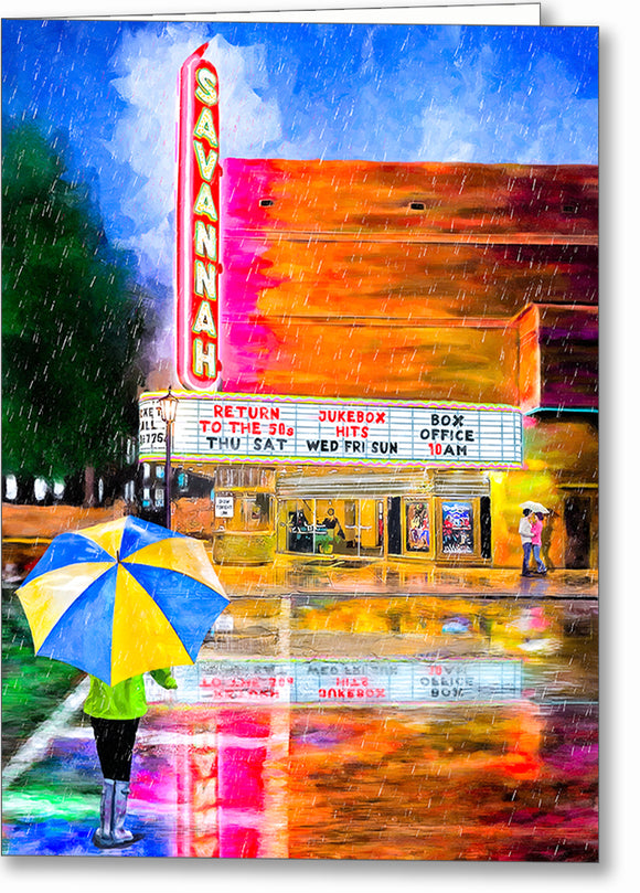 The Historic Savannah Theatre - Georgia Greeting Card