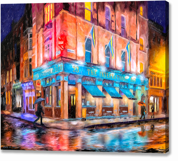 The International Bar - Dublin Pub Canvas Print