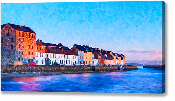 The Long Walk - Galway Canvas Print