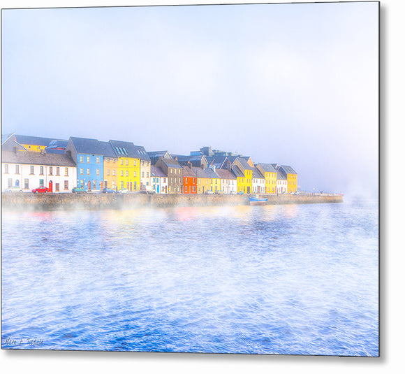 The Long Walk In A Fog - Galway Ireland Metal Print