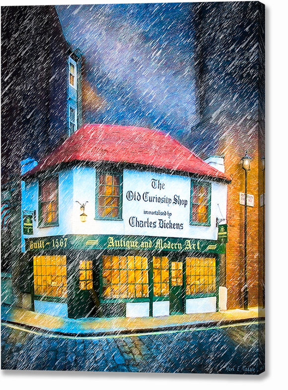 The Old Curiosity Shop - Dickensian London Canvas Print