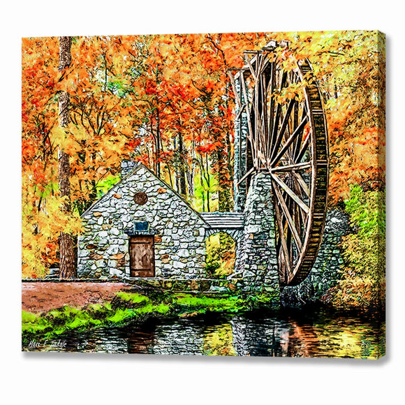 The Old Mill in The Fall - Berry College Canvas Print