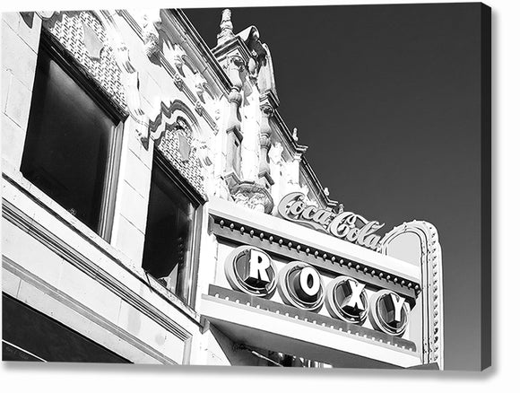 The Roxy - Atlanta Black And White Canvas Print