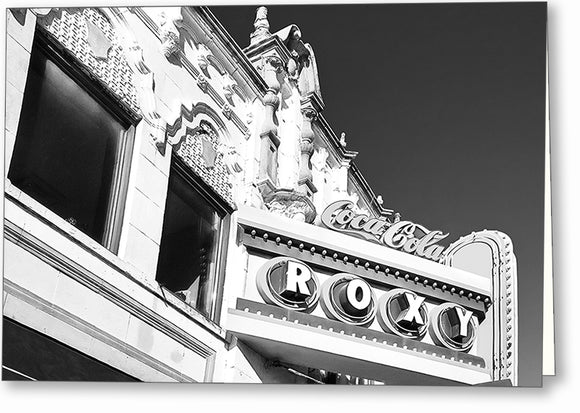 The Roxy - Atlanta Black And White Greeting Card