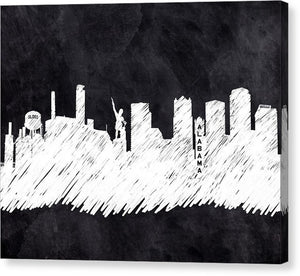 The Skyline - Birmingham - Alabama - Canvas Print