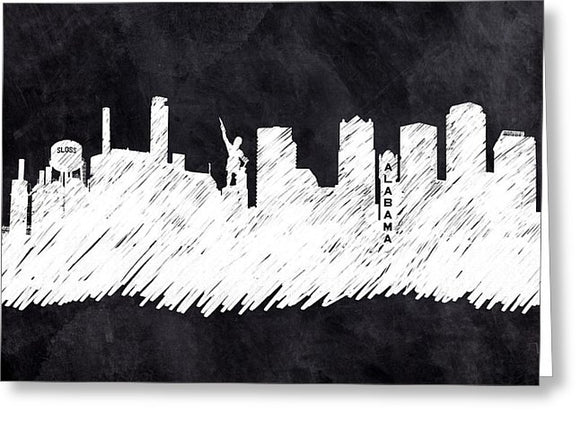 The Skyline - Birmingham - Alabama - Greeting Card