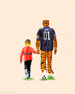 Tiger Tales From Auburn - Art Print