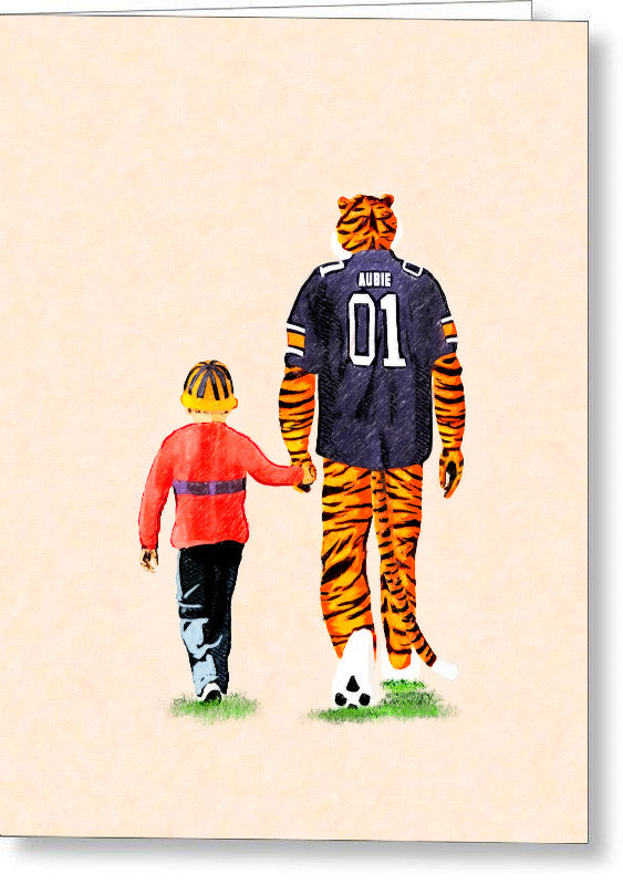 Tiger Tales From Auburn - Greeting Card