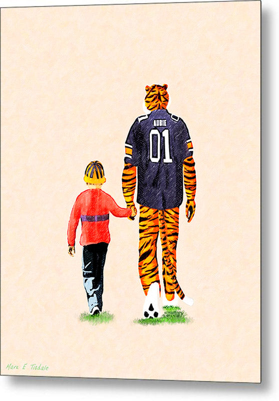 Tiger Tales From Auburn - Metal Print