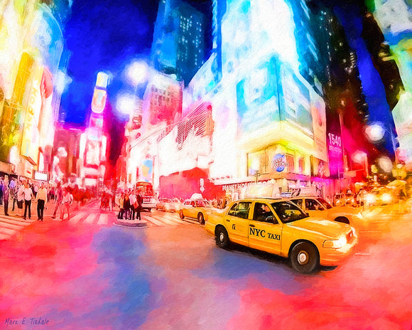 Times Square At Night - New York City Art Print