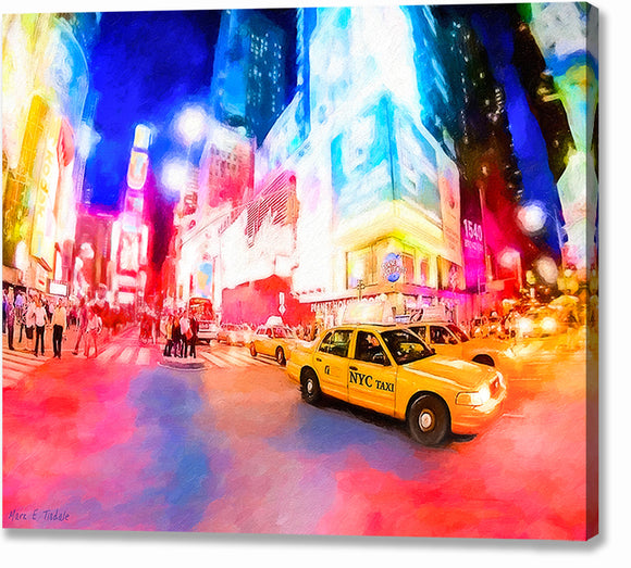 Times Square At Night - New York City Canvas Print