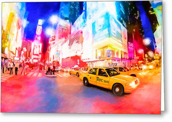 Times Square At Night - New York City Greeting Card