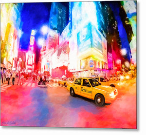 Times Square At Night - New York City Metal Print